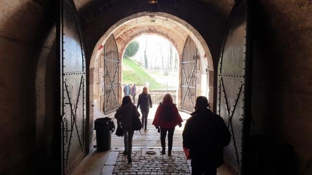 Intérieur de l'entrée principale du fort de Reichstett